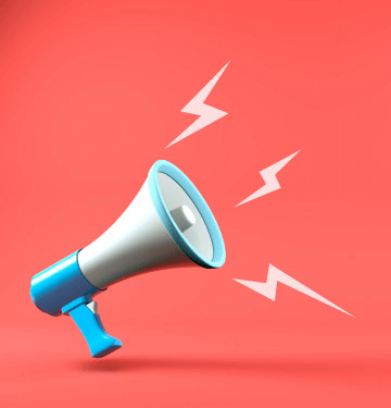 3d render megaphone with speech bubble background 85867 69